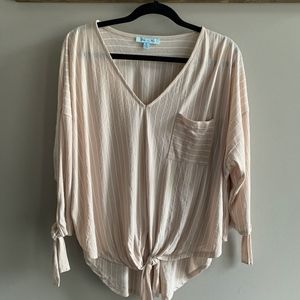 She + Sky Large Tie Top
